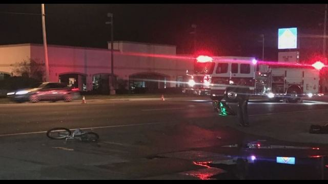 Bicyclist Injured in Motorcycle Wreck
