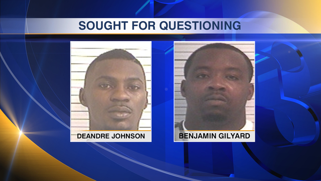 Police Seek Two for Questioning