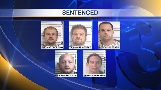 Five Involved in Cocaine Trafficking Conspiracy Sentenced