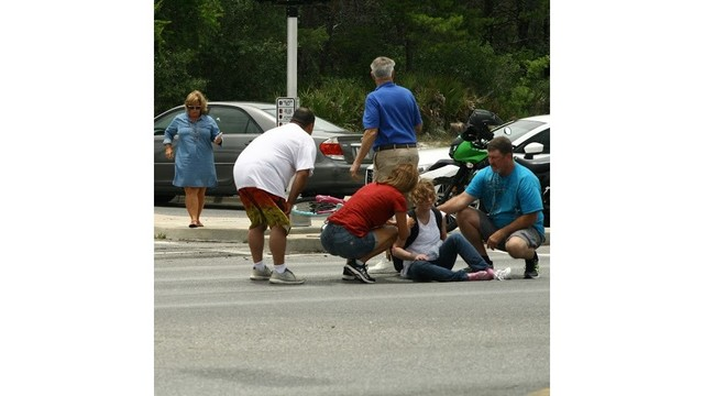 Cyclist Injured in Thomas Drive Accident