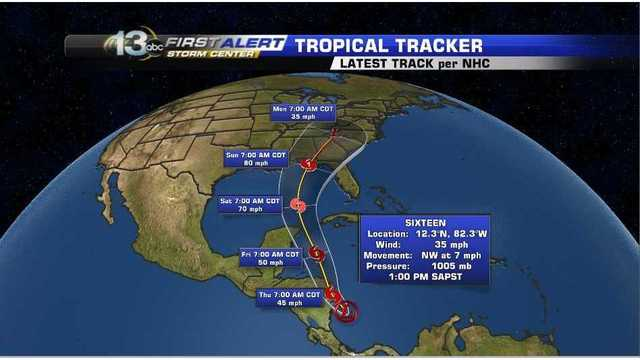 New Tropical Depression forms in the Caribbean Sea