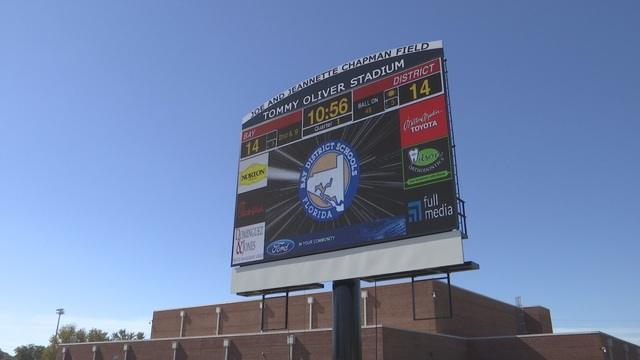 Private Donation Funds New Tommy Oliver Stadium Scoreboard
