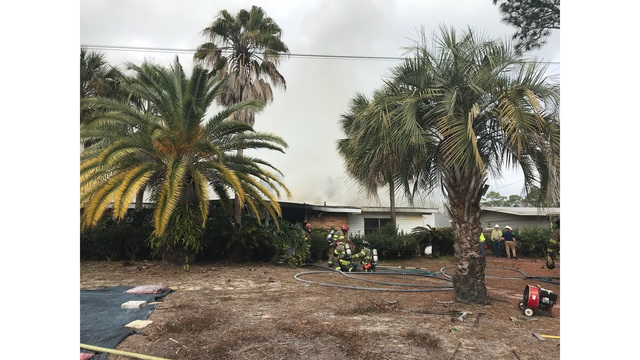 Firefighters Battle Blaze in Panama City Beach