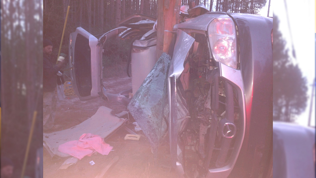 One Man hurt in Steel Field Road Accident