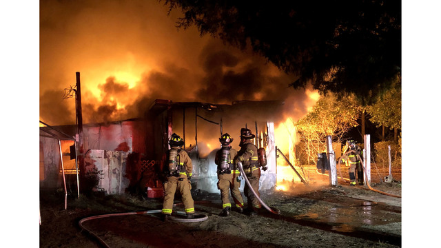 Walton Co. Firefighter Injured in Mobile Home Fire