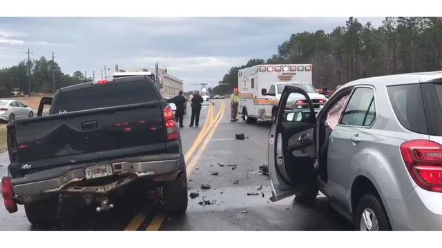 Two Seriously Injured in Four Vehicle Crash on Highway 331