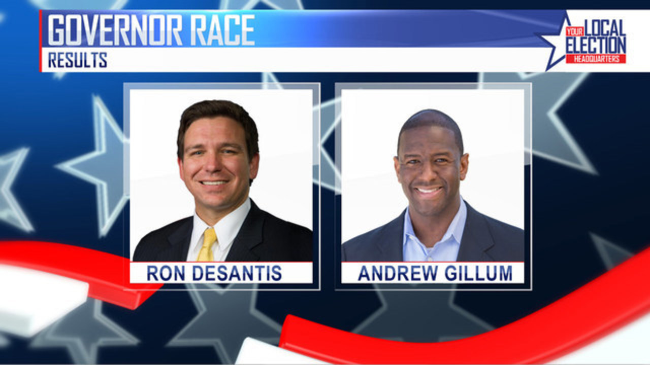 Image result for photos of gillum and desantis