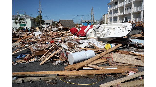 Photos illustrate extent of devastation in Mexico beach
