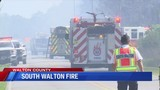 Major Fire Burns Dangerously Close to Several Homes in South Walton